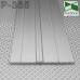 Плоский алюминиевый плинтус ARFEN Р-385, 85х3х3000 мм.