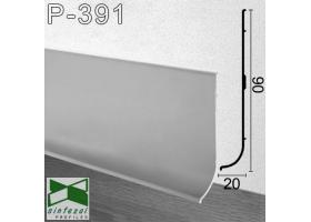 Р-391. Алюминиевый плинтус с большим нахлёстом на пол ARFEN, 90х20х3000мм., Анодированный