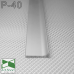P-40. Плоский алюмінієвий плінтус для підлоги Sintezal, 40х10х2700мм. анодований
