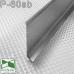 Сатинированный алюминиевый плинтус для пола Sintezal P-60SB, H=60mm. Серебро сатин