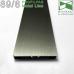 Прямоугольный алюминиевый плинтус для пола Profilpas Metal Line 89/6TMEI, H=60mm. Италия