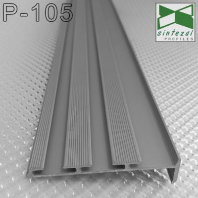 Алюминиевый плинтус скрытого монтажа Sintezal P-105, H=60mm.
