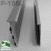 Скрытый алюминиевый плинтус для пола с LED-подсветкой P-105L, высота 60 мм.