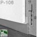 Скрытый алюминиевый плинтус под гипсокартон Sintezal Р-106, высота приямка 53 мм.