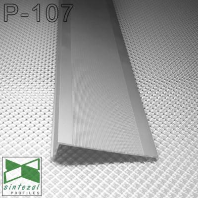 Встроенный алюминиевый плинтус скрытого монтажа Sintezal P-107, высота 70 мм.