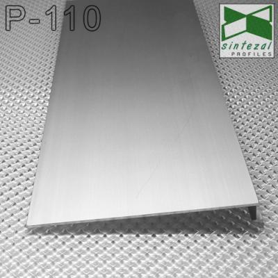 Тонкий алюминиевый плинтус скрытого монтажа Р-110, 100х9,5х3000мм.