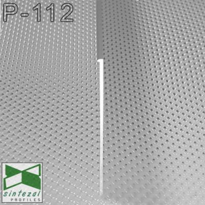 P-112. Плоский алюмінієвий плінтус під штукатурку Sintezal, 100х3х2500мм. Анодований