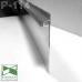 Алюминиевый плинтус  скрытого монтажа с LED-подсветкой Sintezal Р-114, H=100mm.
