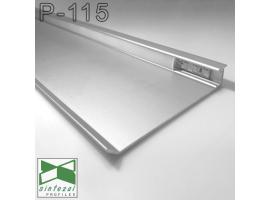 P-115. Встроенный алюминиевый плинтус со скрытой подсветкой Sintezal, 80х12х2500мм. Анодированный