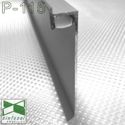 P-115. Вбудований алюмінієвий плінтус з прихованою підсвіткою Sintezal, 80х12х2500мм. Анодований