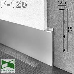 Прихований алюмінієвий плінтус під гіпсокартон Sintezal® Р-125, 80х12,5х2500мм.