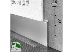 Скрытый алюминиевый плинтус под гипсокартон Sintezal® Р-125, 80х12,5х2500мм.