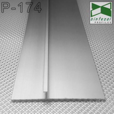 Встроенный алюминиевый плинтус скрытого монтажа P-174, высота 40/70 мм. | Sintezal