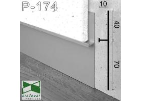 P-174. Алюминиевый плинтус скрытого монтажа Sintezal, 112х10х2700мм. Анодированный