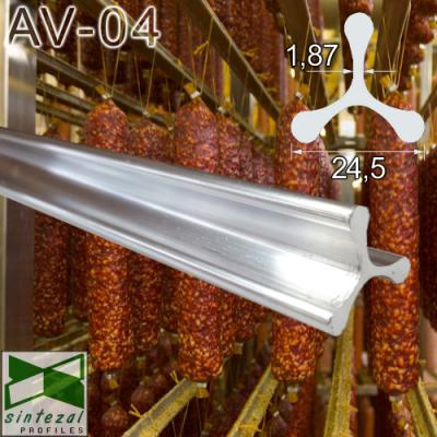 Алюминиевое вешало для коптильных рам Sintezal AV-04, 0,98; 0,995 м.