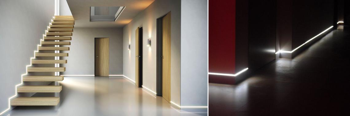 Эксклюзивные модели плинтусов с LED-подсветкой