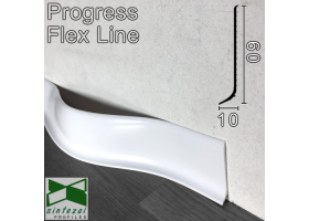 Гибкий плинтус для пола Progress Flex Skirting 60x10mm., Белый