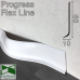 Гибкий плинтус для пола Progress Flex Skirting 60x10mm., Белый