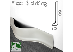 Гибкий плинтус для пола Progress Flex Skirting 60x10mm., Светло-серый