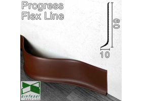 Гибкий плинтус для пола Progress Flex Skirting 60x10mm., Светло-Коричневый