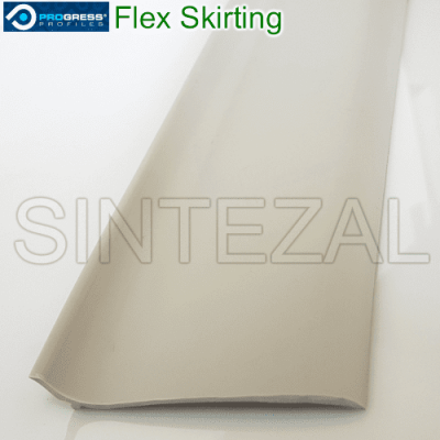 Гибкий плинтус для пола Progress Flex Skirting 60x10mm., Светло-серый