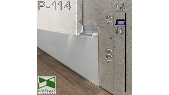 Sintezal Р-114 – новая модель LED-плинтуса для установки под гипсокартон