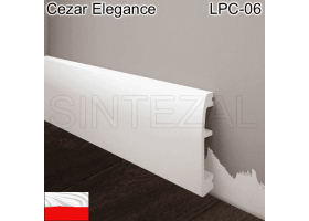 Плинтус дюрополимерный Cezar Elegance LPC-06, 71х14х2000 мм.