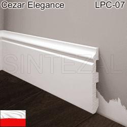 Белый плинтус под покраску Cezar Elegance LPC-07, 80х13х2000 мм.
