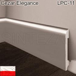 Дюрополимерный плинтус Cezar Elegance LPC-11 БРОНЗА, 78х13х2000 мм.