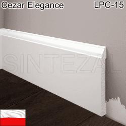 Белый плинтус под покраску Cezar Elegance LPC-15, 81х11х2000 мм.