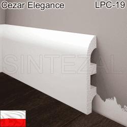 Плинтус из дюрополимера Cezar Elegance LPC-19, 98х19х2000 мм.