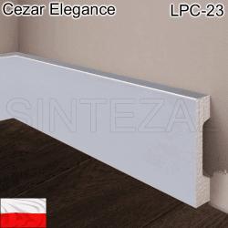 Плинтус в цвет алюминия Cezar Elegance LPC-23-148, 68х15х2000 мм.