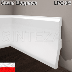 Плинтус из дюрополимера Cezar Elegance LPC-34. 120х26х2440 мм.
