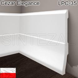 Высокий фигурный плинтус Cezar Elegance LPC-35. 160х25х2440 мм.