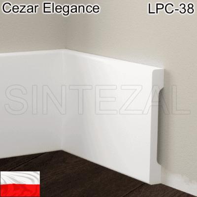 Прямокутний плінтус Cezar Elegance LPC-38, 95х12х2000 мм.