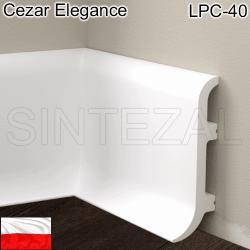 Плинтус из дюрополимера Cezar Elegance LPC-40, 100х32х2440 мм.