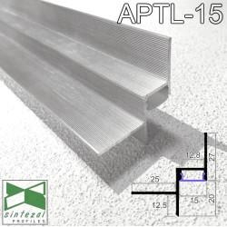 Алюминиевый профиль теневого шва c LED-подсветкой 15х20 мм., Sintezal APTL-15