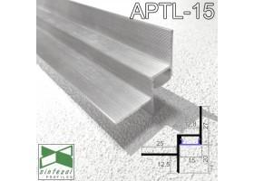 Алюминиевый профиль теневого шва c LED-подсветкой 15х20 мм., Sintezal APTL-15.