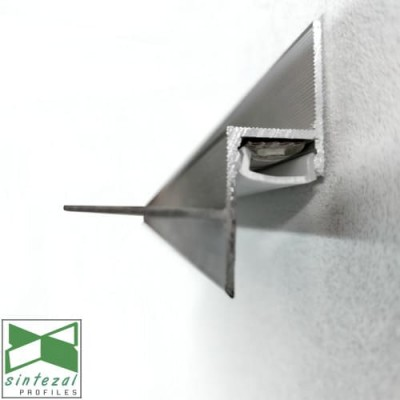 Теневой профиль для гипсокартона c LED-подсветкой Sintezal APTL-15