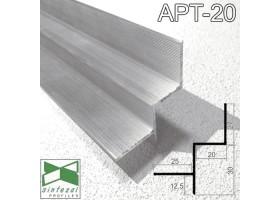 Алюминиевый профиль теневого шва 20х30 мм. Sintezal AРТ-20