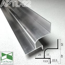 Алюминиевый профиль теневого шва c LED-подсветкой, 20х40 мм. Sintezal APTL-22